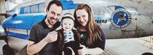 airport family baby photo shoot