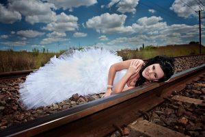 railway wedding