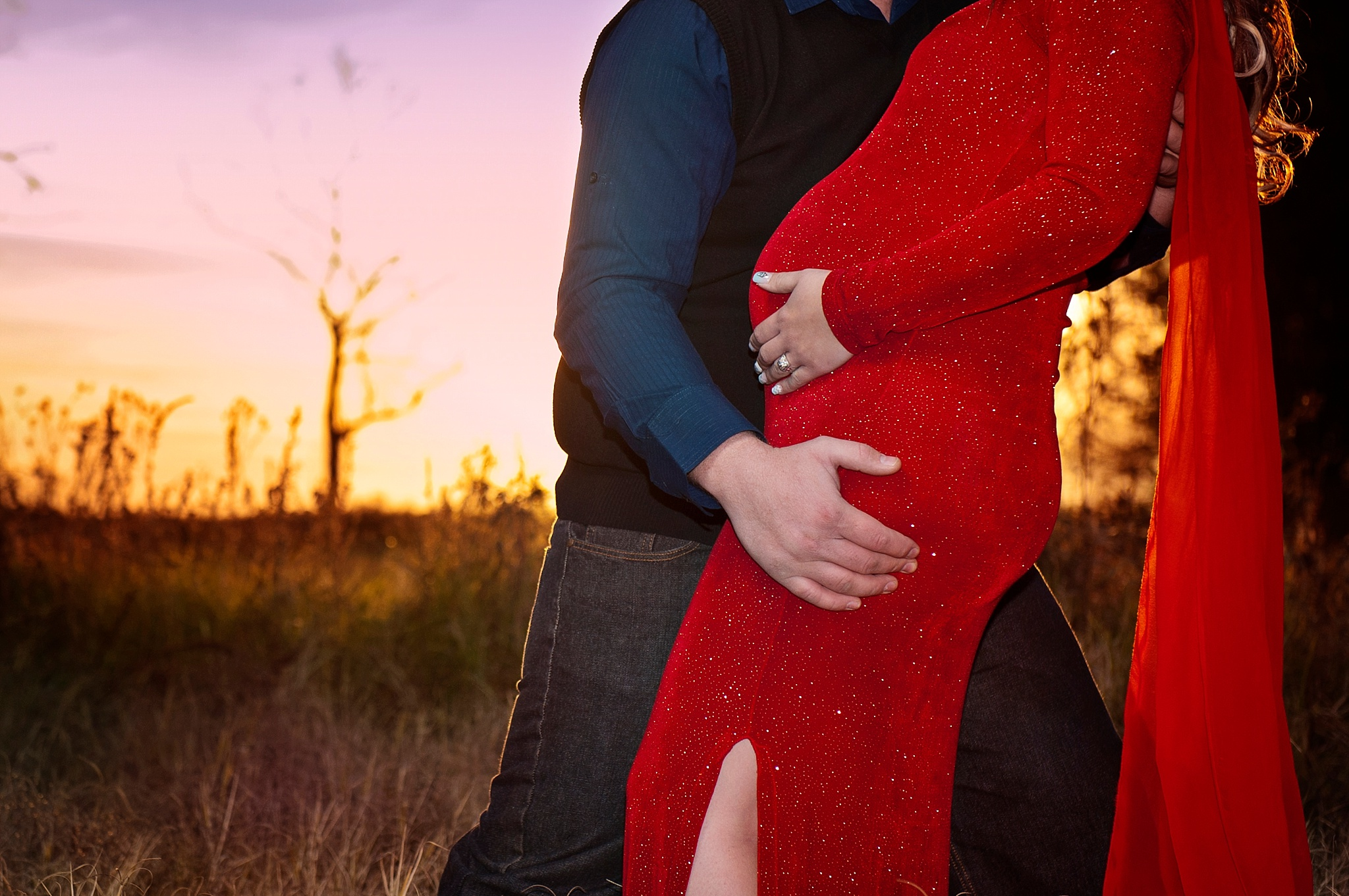 Farm styled maternity shoot